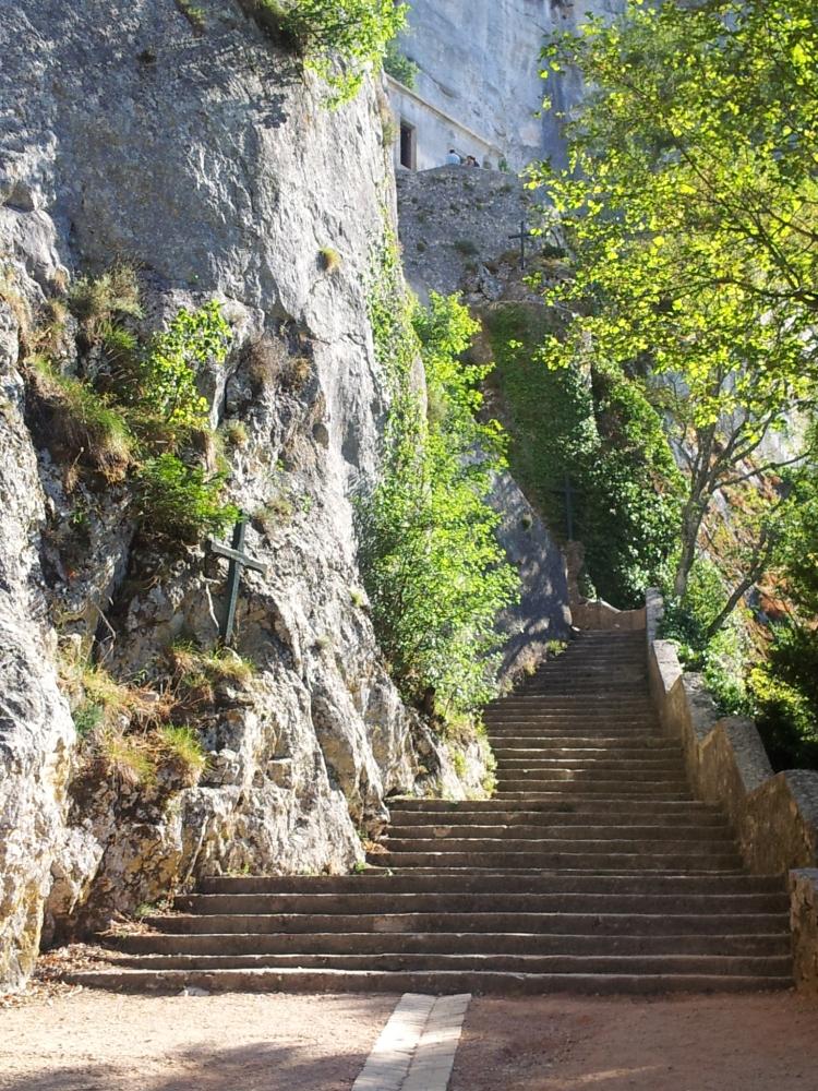 The 150 Steps to La Sainte Baume.